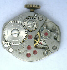 Antique Vintage SEMAG 17J Swiss Watch  Movement  As Is Repurpose #W3F
