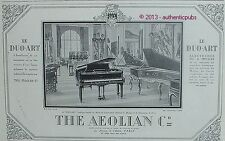 PUBLICITE THE AEOLIAN COMPANY PIANO LE DUO ART ELECTRIQUE OU PEDALES DE 1925 AD