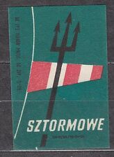 "POLAND 1966 Matchbox Label - Cat.Z#703V  Matches ""stormy""."