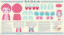 Riley Blake Fabric - Flutterberry - Bella Butterfly Doll Panel - 100% Cotton