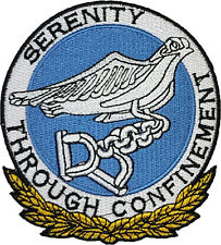 Aliens 3 Serenity Through Confinement Badge Embroidered Patch 10cm Sew/ Iron-on