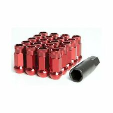 Muteki SR48 Wheel Lug Nuts - RED -  M12x1.25 - Nissan Subaru GTR Impreza WRX UK