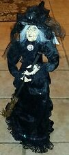 Halloween Gothic Victorian Old Hag Poseable Witch Doll Tabletop Decoration Prop