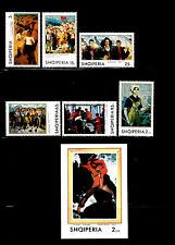 Albania - 1970 - SC 1314-1320 - NH - Complete Set + Min Sheet - Paintings