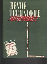 (27B)REVUE TECHNIQUE AUTOMOBILE ALFA ROMEO GIULIETTA / PEUGEOT 203 403 / BMW 700