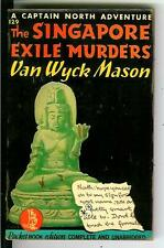 THE SINGAPORE EXILE MURDERS by Mason, rare US Pocket 3rd crime pulp vintage pb