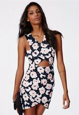 MISSGUIDED ASOS FLORAL CUT OUT DRESS 8 BNWT