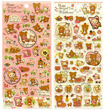 San-x Rilakkuma Happy Natural Time Deer Sticker Sheet LOT stickers Kawaii Japan