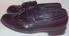 STAFFORD, MEN'S BLACK LEATHER SLIPPER, SIZE 11 M