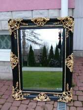 FRANCE - MIRROR IN BLACK AND  GOLD FRAME