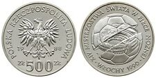 1988 Poland Proof  Silver 500 ZL World Cup Soccer/Colosseum