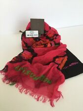 LOUIS VUITTON Fuchsia STEPHEN SPROUSE ROSES Stole Scarf Authentic.