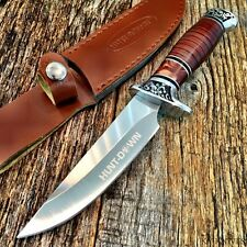 Rosewood Hunting Camping Fishing Survival Knife New w/Sheath Military 9114