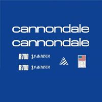 Cannondale R700 Bicycle Frame Stickers - Decals - Transfers: White. n.3