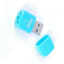 Mini USB 2.0 TF Memory Card Reader Micro SD Writer Blue