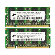 New Micron 4GB 2x2GB PC2-5300 667Mhz DDR2 200pin Sodimm Laptop Memory