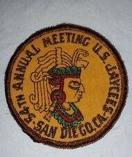 US JAYCEES 54TH ANNUAL MEETING PATCH SAN DIEGO  CA.  FREE SHIPPING