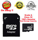 Grade A Genuine 4GB 8GB 16GB 32GB SDHC Class 10 Micro Memory SD Card + Adapter