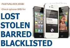 iphone Check IMEI Status for Lost/Stolen/Blacklist or Clean worldwide