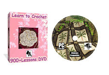 LEARN HOW TO CROCHET COLLECTION + OVER 900 PATTERNS WITH GUIDES ON DVD DISK