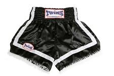 Twins Muay Thai-Boxing shorts. schw./blanco m. flecos