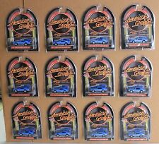 1 case of 12 MotorMax American Graffiti, 71 Ford Mustangs Boss 351 - 1:64 scale