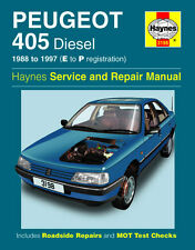 3198 Haynes Peugeot 405 Diesel (1988 - 1997) E to P Workshop Manual
