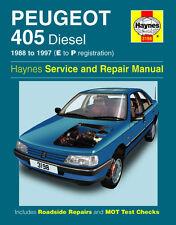 3198 Haynes Peugeot 405 Diesel (1988 - 1997) E to P Workshop Manual