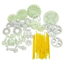 11 SET 47 PC CAKE DECORATING SUGARCRAFT FONDANT ICING PLUNGER CUTTING TOOL KIT