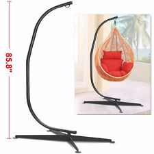 Solid Steel C Hammock Frame Stand Construction Hammock Air Porch Swing Chair WP