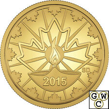 2015 Proof 25-Cent 'Diwali - Festival of Lights' Gold Coin .9999 Fine (17449)