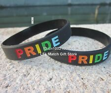 Unisex Gay Pride Rainbow Silicone Bracelet - Buy 5 Save 25% - Brand New