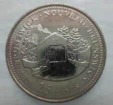 1992 CANADA 25¢ NEW BRUNSWICK BRILLIANT UNCIRCULATED QUARTER