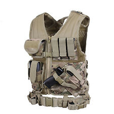 multicam vest tactical cross draw adjustable one size fits most rothco 6384