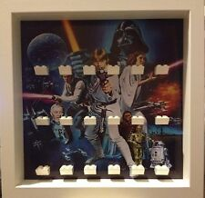 Lego Star Wars ClassicMinifig Display Frames Cases