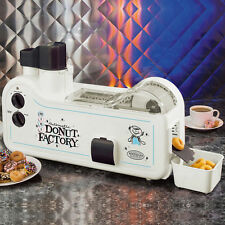 Nostalgia Automatic Electric Mini Doughnut Machine, Donut Factory Maker