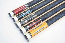 "SET OF 5 POOL CUES New 58"" Canadian Maple Billiard Pool Cue Stick #7 FREE SHIP"
