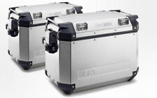 Givi Trekker Silver Outback 48 Liter Side Cases (LEFT & RIGHT) - PAIR