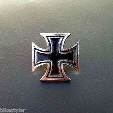 Maltese Cross Motorcycle Badge Pin Harley Honda Kawasaki Yamaha Suzuki Chopper