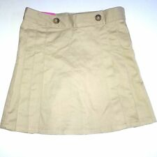 French Toast Girls Skirt Skort Scooter Khaki 7 School Uniform Adjustable Waist