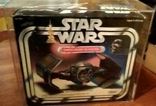 Star Wars Darth Vader Tie Fighter AFA 80 sealed box, much rarer than CS reissue