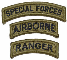 US Army Special Forces Airborne Ranger Patch Multicam/OCP/Scorpion (3 patches)