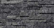 Black Quartzite Split Face Mosaic Sample 150x150 Rock Panels - 3D Wall Cladding