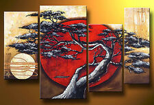 Modern Asian Art Abstract Landscape Oil Painting On Canvas