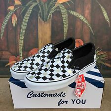 Vans Classic Slip On 50th Anniversary Black Gold Checker Men's Size 9