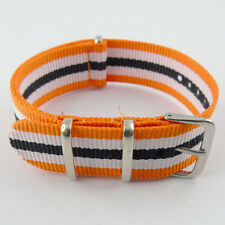 20mm Wristwatch Bands Men's Watch Nylon Strap Brushed Buckle  R-03