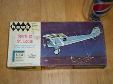SPIRIT OF ST. LOUIS AIRPLANE, Plastic Model Kit, Scale 1:72, Vintage