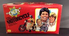 "Mego 1980 CHiPs Free Wheeling Motorcycle For 8"" Figures BOXED (128)"