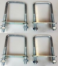 4 x square U-bolt u bolts for Boat trailer 60x120x10mm with  Nuts & Plate UB1
