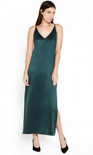 EQUIPMENT Racquel Silk Slip Dress in Scarab Green Size XS